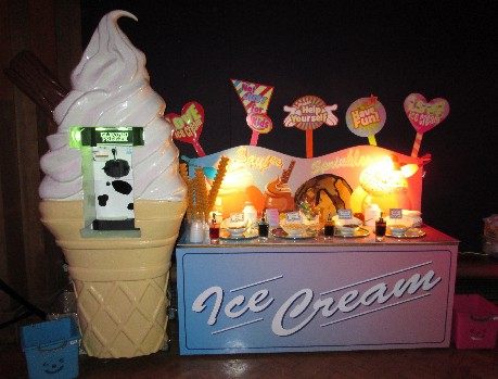 ice cream factory for a corporate event