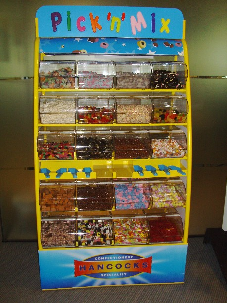 rent a sweetie stand for and exhibition stand