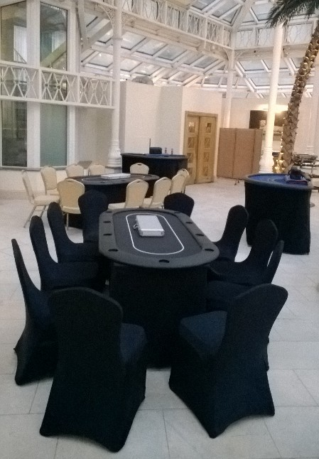 poker tables for hire