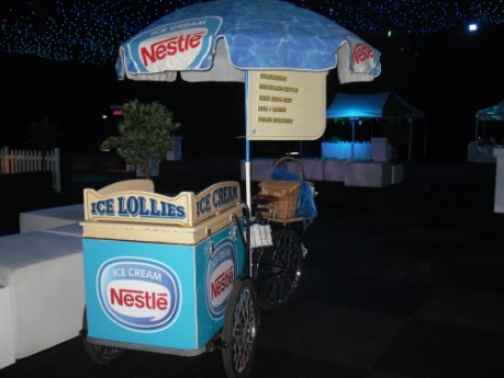 rent a promotional ice cream bicycle