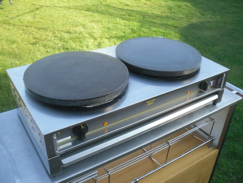 commercial crepe plate hire