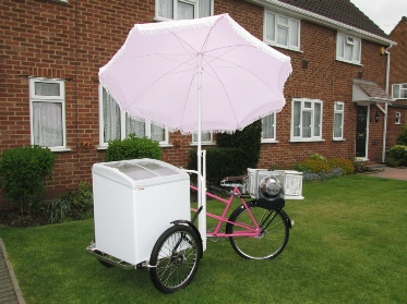 ice cream bicycle for exhibition stand attraction