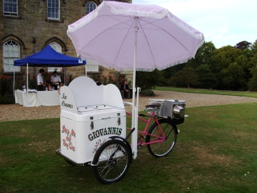 ice cream trike for an exhibition stand