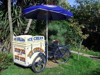 old fashion ice cream bicycle hire