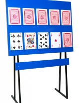 large size play your cards right game hire
