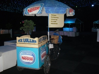 hire an ice cream bicycle for promotional use