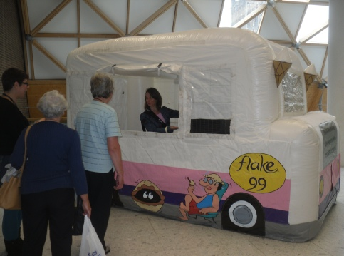 ice cream van for exhibition stand